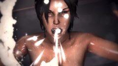 Game Over Girls: Lara Croft (Tomb Raider) – Jizz Vomit Scene Loop