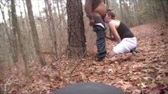 Disgusting Amateur Youtuber Gags On A Black Cock And PUKES In Woods (RARE)