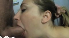 3 Cumshots On My Face! Obedient Girl Expertly Handles Dick